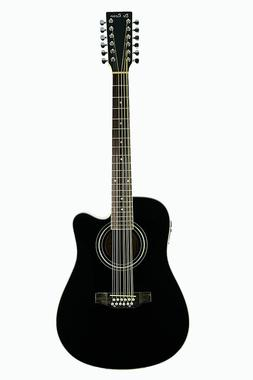 De Rosa 12 String Acoustic-Electric Thin Body Guitar Natural