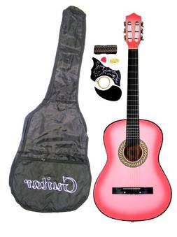 "38"" PINK Acoustic Guitar Starters Beginner Package, Guitars,"