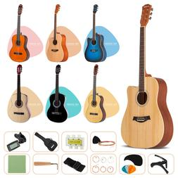 Acoustic Guitar with Guitar Case, Strap, Tuner&Pick Steel St