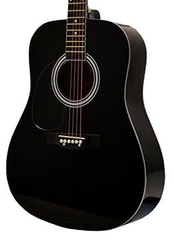 "41"" Inch Full Size Black Handcrafted Steel String Dreadnough"