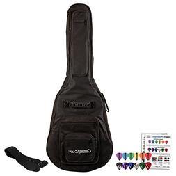 ChromaCast Acoustic Guitar 6-Pocket Padded Gig Bag with Guit
