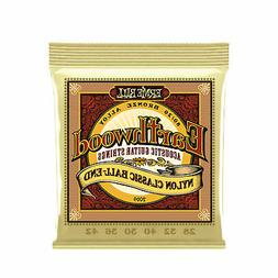 Ernie Ball Earthwood Folk Nylon Ball End Set, Clear and Gold
