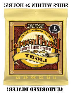 Ernie Ball Earthwood Light 80/20 Bronze Sets, .011 - .052