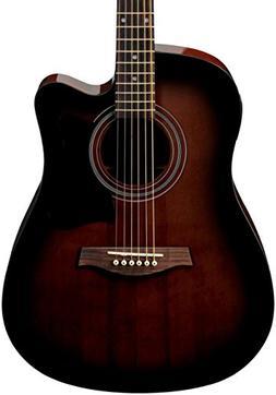 Ibanez V70CE Acoustic-Electric Cutaway Guitar Violin Sunburs