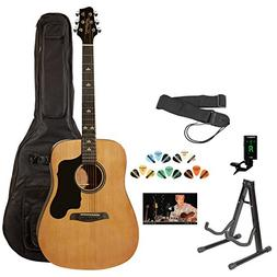 Sawtooth ST-ADN-KIT-3 Acoustic Guitar with Black Pickguard -