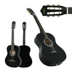 "Acoustic Guitar 38"" Full Size Adult Black Includes Guitar Pi"
