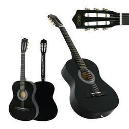 "Acoustic Guitar 38"" Full Size Adult Black Includes Guitar Pi"