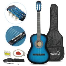 Beginners Acoustic Guitar w/Guitar Case, Strap, Tuner & Pick
