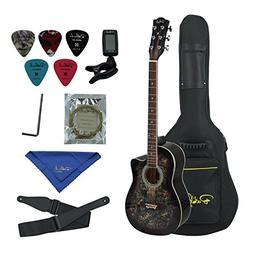 Bailando 38 Inch Acoustic Guitar Cutaway Mahogany, 6 Steel S