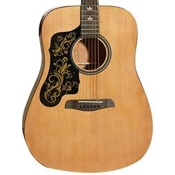 Sawtooth Acoustic Guitar with Black Pickguard & Custom Graph