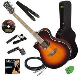 Yamaha APX500II Sunburst Guitar STAGE BUNDLE w/ Hard Case, C