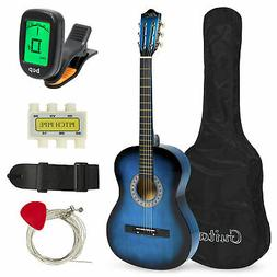 BCP 38in Beginner Acoustic Guitar Musical Instrument Kit w/