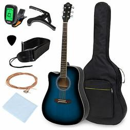 BCP 41in Acoustic Guitar w/ Gig Bag, Digital Tuner, Capo, St