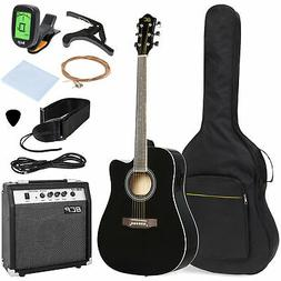 BCP 41in Full Size Acoustic Electric Cutaway Guitar Set w/ 1