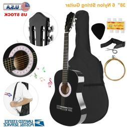 """Beginner 39.3"""" Acoustic Guitar with Case, Strap, Tuner and"""