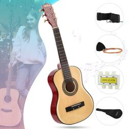 beginners acoustic guitar with guitar case strap