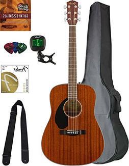 Fender CD-60S Dreadnought Acoustic Guitar - All Mahogany Bun