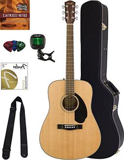 Fender CD-60S Dreadnought Acoustic Guitar - Left Handed, Nat