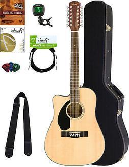 Fender CD-60SCE-12 Acoustic-Electric Guitar - 12 String, Nat