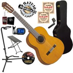 Yamaha CG162C Classical Guitar COMPLETE BUNDLE w/ Hard Case