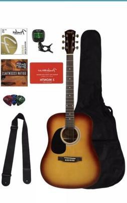 Fender Squier Dreadnought Acoustic Guitar - Sunburst Bundle