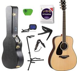Yamaha FG800 Acoustic Guitar Solid Top with Knox Hard Shell