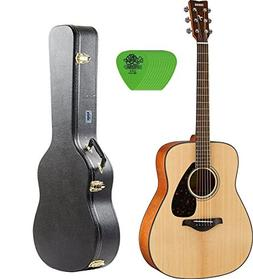 Yamaha FG800 Acoustic Guitar with Knox Hard Shell Case & Pic