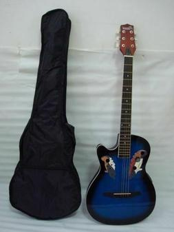 Free Gig Bag 6 String Acoustic Electric Guitar, Round Back,