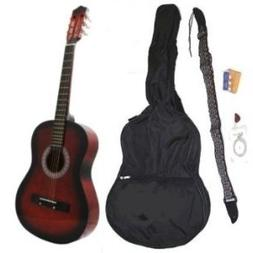 """38"""" Inch Student Beginner Coffee Acoustic Guitar w/ Carrying"""