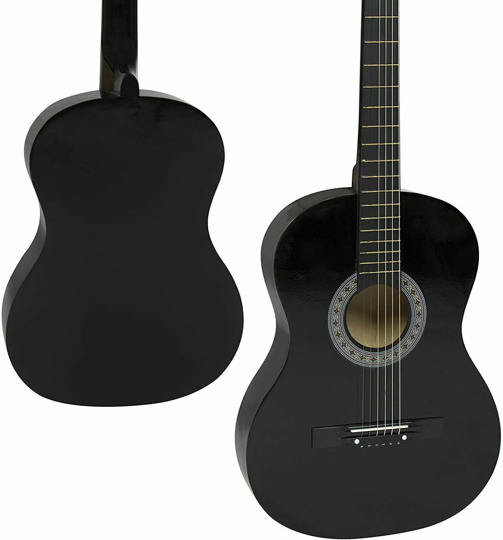 38in beginner acoustic guitar starter kit w