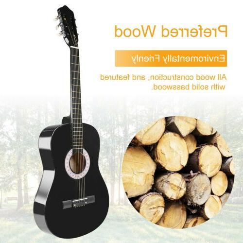 """39"""" Acoustic Tuner&Pick Steel Strings"""