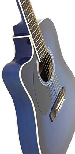 Jameson Guitars Full Thinline Acoustic with Free Gig Bag Case Blue Right