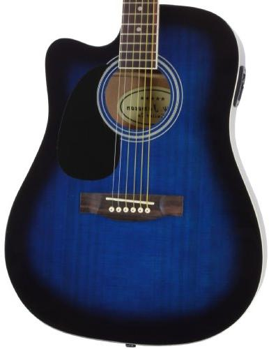 Jameson Thinline Acoustic Guitar with Case Picks Right Handed