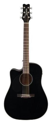 Jasmine JD39CE-BLK J-Series Acoustic-Electric Guitar, Black