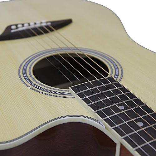 Kona Left-Handed Acoustic Electric Cutaway Guitar in Natural Finish