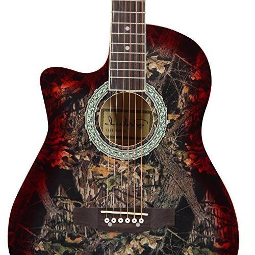 Bailando Guitar Cutaway Steel Strings, Brownburst