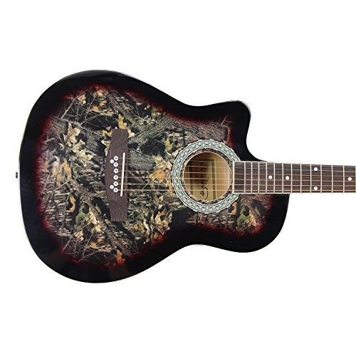 Bailando 38 Inch Acoustic Guitar Mahogany, Steel Strings,