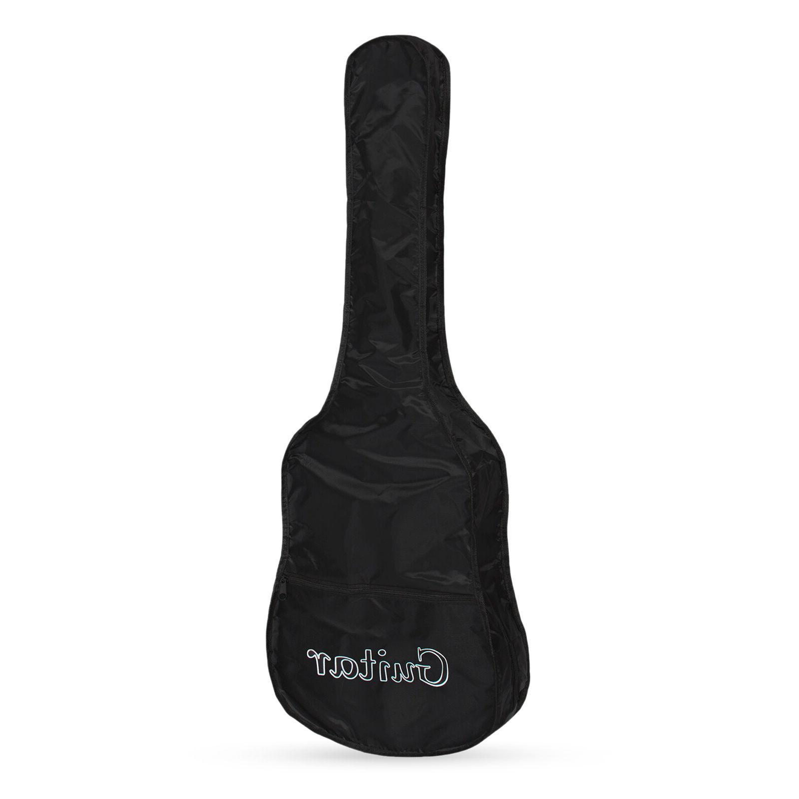 Beginner Acoustic Kit w/ Case, Strap, Digital Pick
