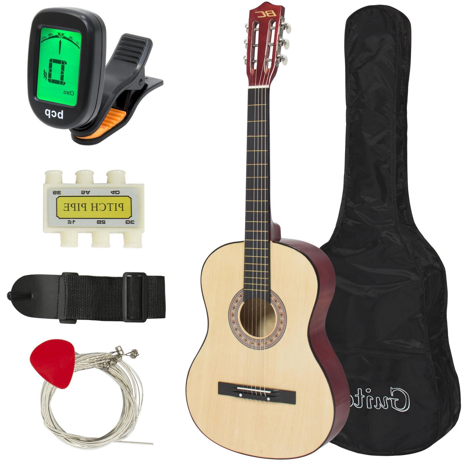 beginner acoustic guitar starter kit w case
