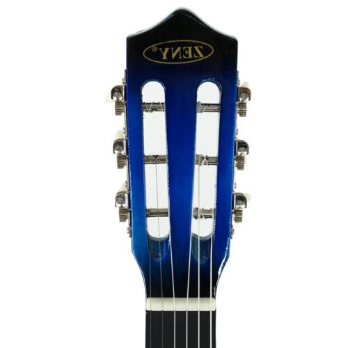 HOT New Beginners Blue Hardwood With Guitar Pick
