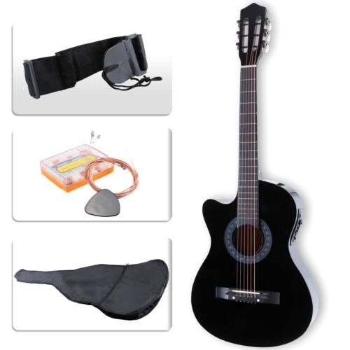 Cutaway Design With Case,Strap,Tuner Black
