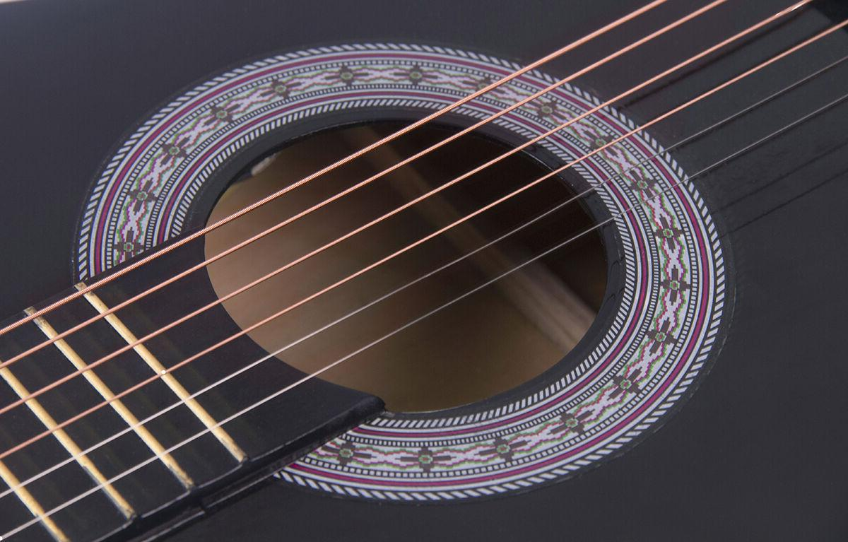 Electric Cutaway Design Guitar Strap, Black New
