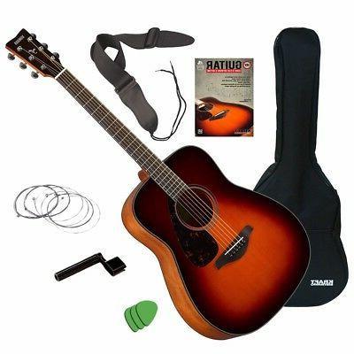 fg800 acoustic guitar brown sunburst guitar essentials