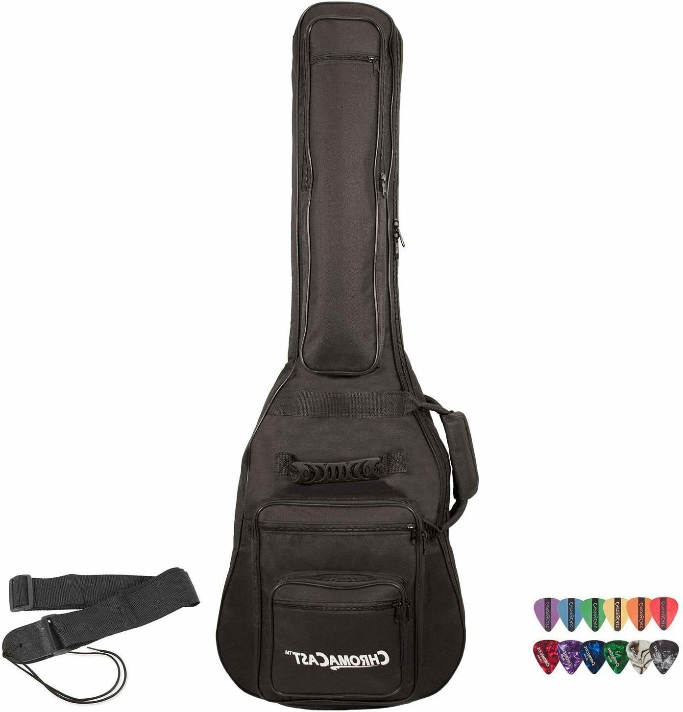 GO-DPS ChromaCast Electric Guitar 6-Pocket Padded Gig Bag wi