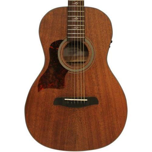 mahogany series parlor acoustic electric guitar w