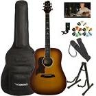 Sawtooth Modern Vintage Dreadnought Acoustic Guitar with Chr
