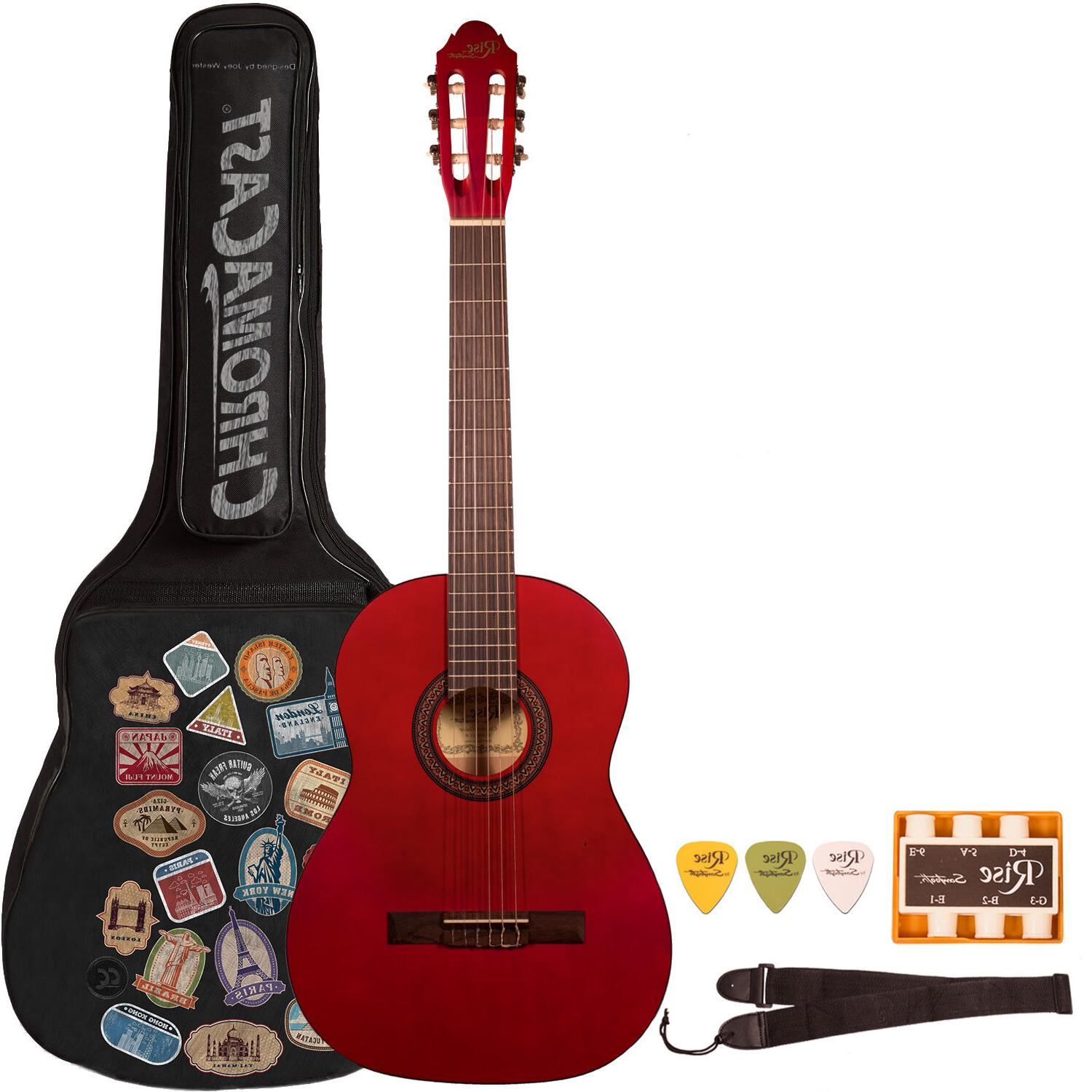 Rise by Sawtooth Beginner Acoustic Guitar with Accessories