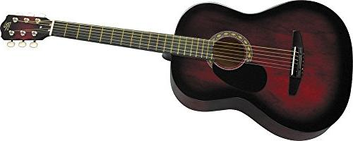 Rogue Acoustic Guitar Red