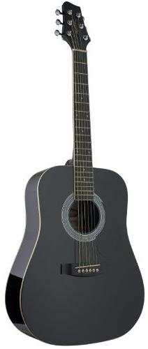 Stagg SW201 3/4 LH BK Left Handed 3/4 Size Dreadnought Acous