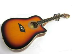 LEFT HANDED THIN BODY SUNBURST ACOUSTIC ELECTRIC CUTAWAY LEF